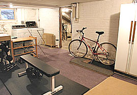 after picture of home staged basement
